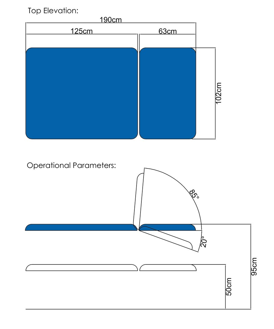 Bo01h 2 Sections Hydraulic Mechanism Klaromed