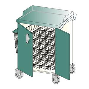 Wózki medyczne na promilu aluminiowym